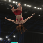 WWE2k19で紫雷イオVSトニー・ストーム 後半